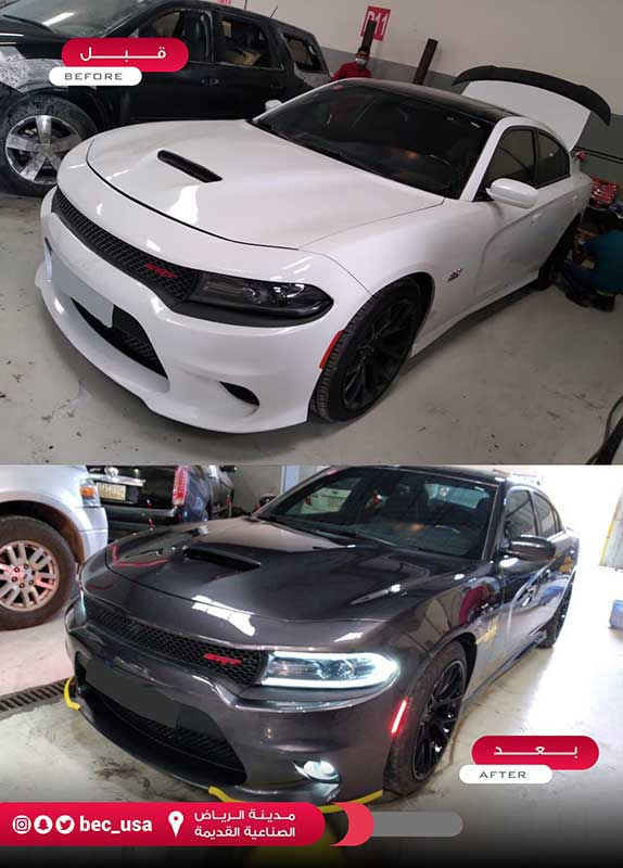 افضل ورشة تغيير لون السيارة بالرياض مركز المحرك الافضل لسمكرة ورشة البوية بضمان